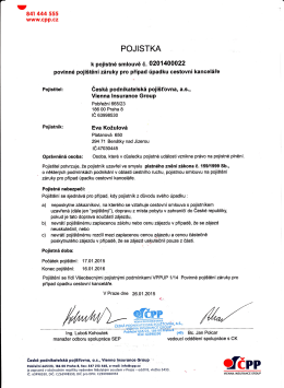 Pojištění CK proti úpadku ve formátu PDF