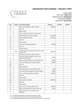 Jednoduché účetní případy – účtování s DPH