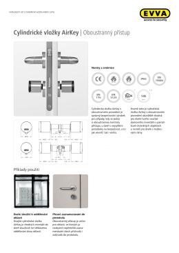 Cylindrické vložky AirKey | Oboustranný přístup