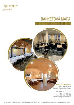 Banketní mapa Aparthotel Lípa - North