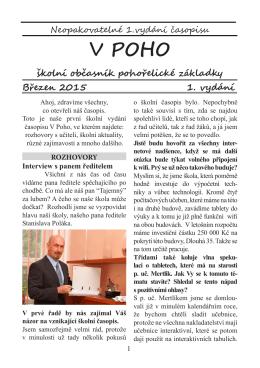 Školní časopis V Poho - Základní škola Pohořelice