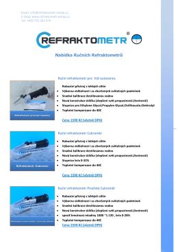 Nabídka Ručních Refraktometrů - Refraktometr