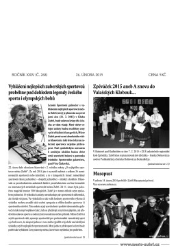 noviny - Město Zubří