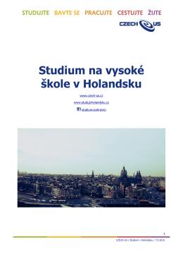 Studium na vysoké škole v Holandsku - Czech-us