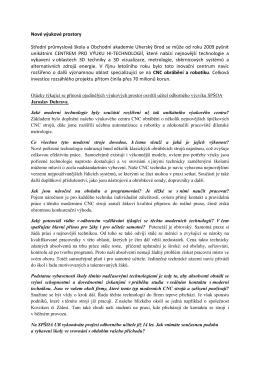 Rozhovor  - Střední průmyslová škola a obchodní