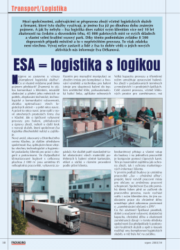 ESA = logistika s logikou