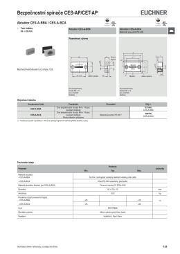 Aktuátory pro bezpečnostní spínače CES-AR/AP-C01