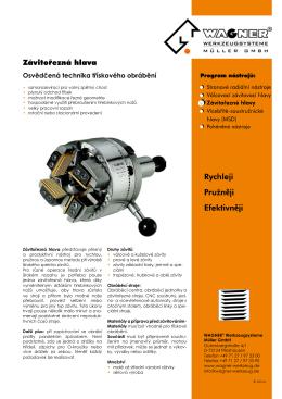 Závitořezná hlava - WAGNER®-Werkzeugsysteme Müller GmbH