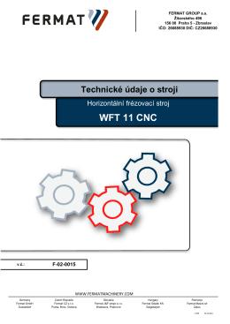 WFT 11 CNC - TOMARK, s.r.o.