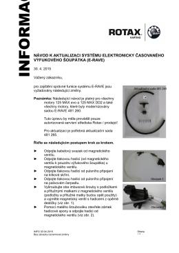 INFO - instrukce pro el. přívěru výfuku