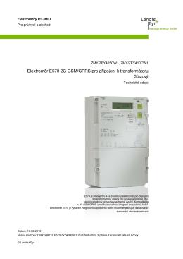 Elektroměr E570 2G GSM/GPRS pro připojení k transformátoru