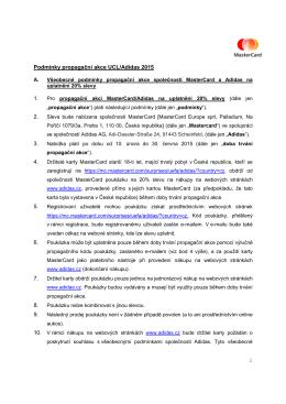 1 Podmínky propagační akce UCL/Adidas 2015