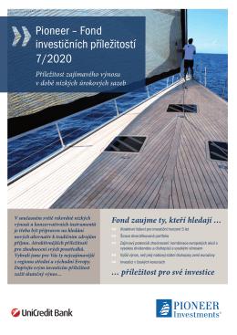 Pioneer ‒ Fond investičních příležitostí 7/2020