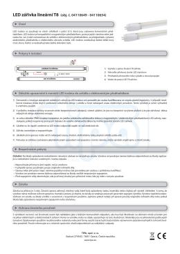 LED zářivka lineární T8 (obj. č. 04110649 - 04110654)
