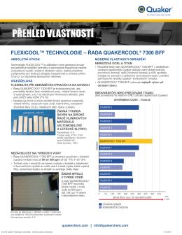 flexicool™ technologie – řada quakercool® 7300 bff