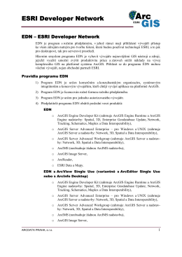 Popis programu EDN - Arcdata Praha, s. r. o.