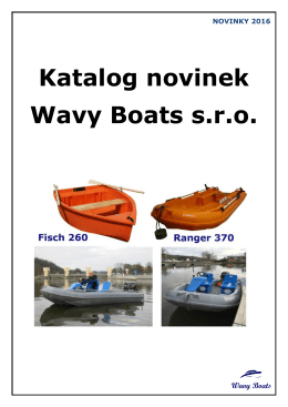 Katalog novinek Wavy Boats s.r.o.