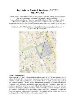 Pozvánka - mitav - Univerzita obrany