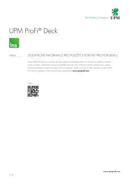 UPM ProFi® Deck