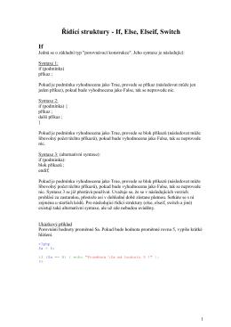 PHP - Ridici struktury