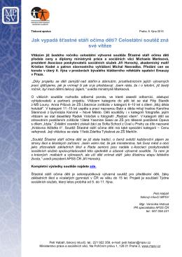 Tisková zpráva MPSV 10/2015