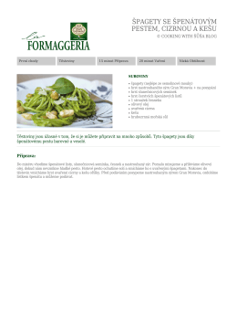 Stáhnout PDF - La Formaggeria