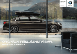 ORIGINÁLNÍ PŘÍSLUŠENSTVÍ BMW.