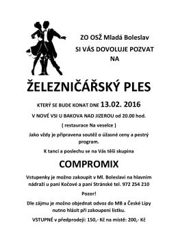 ŽELEZNIČÁŘSKÝ PLES - ZO OSŽ Mladá Boleslav