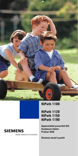 HiPath 1100 HiPath 1120 HiPath 1150 HiPath 1190