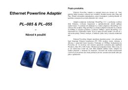 Ethernet Powerline Adaptér PL–085 & PL–055 – Návod k použití