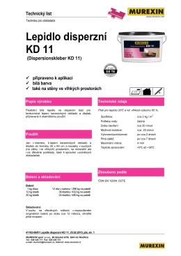 Lepidlo disperzní KD 11