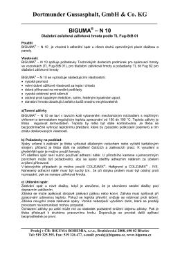technický list n 10 - ASFALTELAST spol. s.r.o.