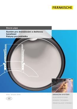 Storm-pipe Systém pro drenážování a dešťovou kanalizaci Pokyny
