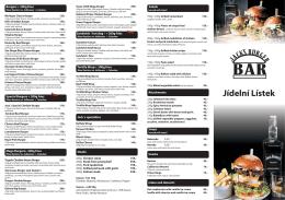 Jídelní lístek zde - Jack`s Burger Bar