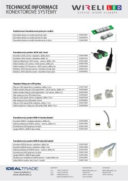 Konektorové systémy pro nábytkovou kabeláž
