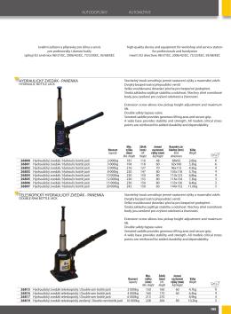autodoplňky automotive hydraulický zvedák - CROW-TECH