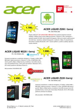 ACER LIQUID Z200 / černý