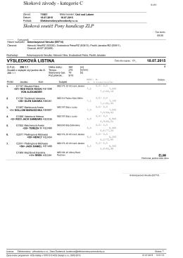 Skokové závody - kategorie C Skoková soutěž Pony handicap ZLP