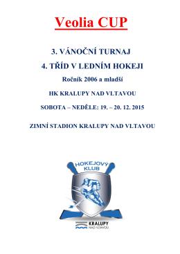 Propozice VEOLIA CUP 2015