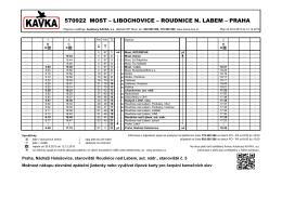 570922 most – libochovice – roudnice n. labem – praha