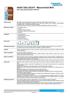 HASIT 830 LEICHT - Mauermörtel M10