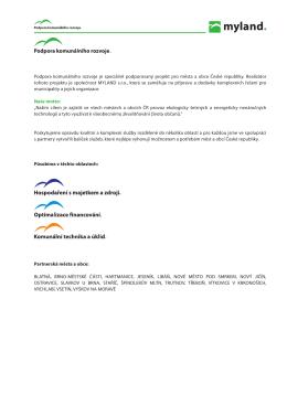 Propagační materiály Podpory komunálního rozvoje