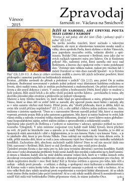 Vánoce 2015 - Římskokatolická farnost u kostela sv. Václava Praha