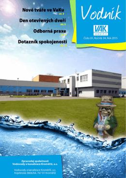 VODNÍK 2015 č.1 - Vodovody a kanalizace Kroměříž, as