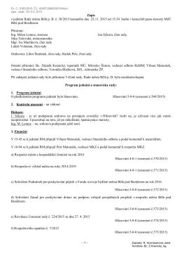 Zápis z jednání RM dne 23.11.2015