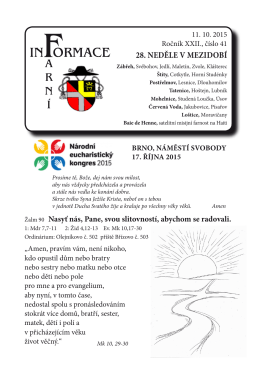 28. neděle v mezidobí - Římskokatolická farnost Zábřeh a děkanát