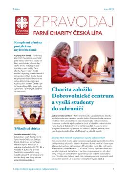 Únor 2015 - Farní charita Česká Lípa