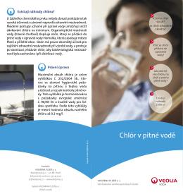 Chlor ve vodě - VODÁRNA PLZEŇ as
