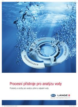 Procesní přístroje pro analýzu vody