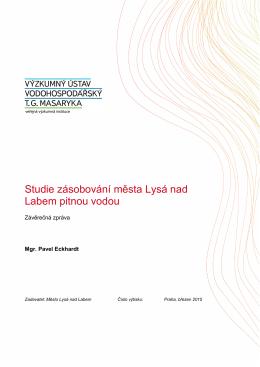 Studie zásobování města Lysá nad Labem pitnou vodou